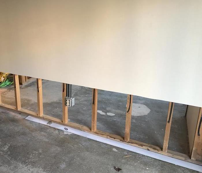 Two foot cut drywall