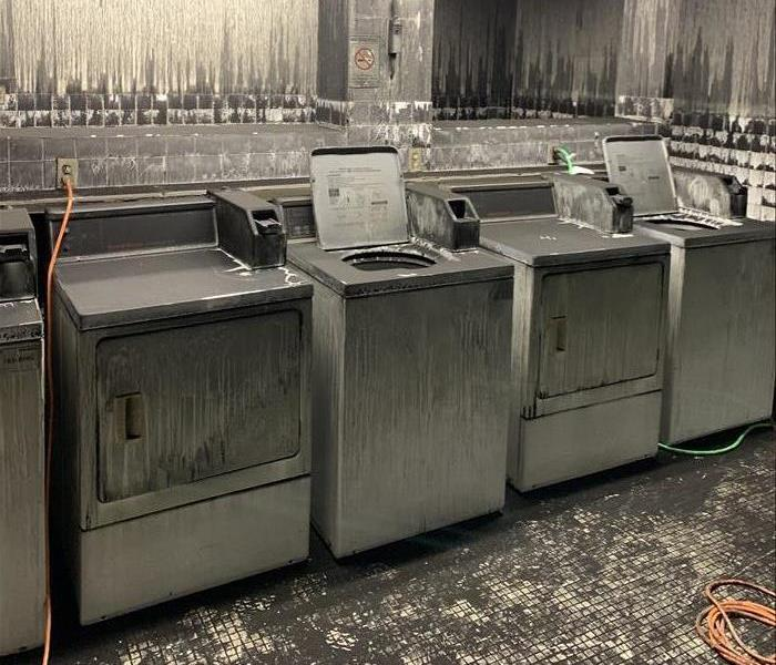 Soot Covered Washer and Dryers