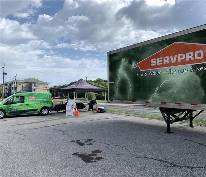SERVPRO of Southern Cuyahoga County and Equipment on parking lot